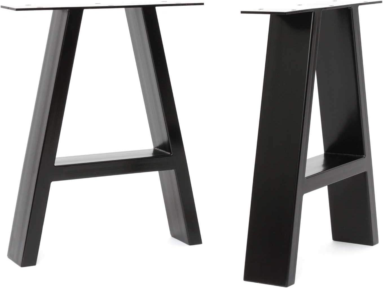 HLC Banc, Noir guide de montage et protections de sol Lot 2 pieds de table /à cadre en A industriels vis GRATUITES 3 finitions 40 cm /à 71 cm