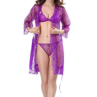 2b862c0c15 Amazon.com: Hennta Women Sexy Plus Size Lingerie Clubwear Lace Women ...