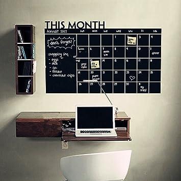 Calendario Adhesivo de Pared Reutilizable Calendario Memo ...
