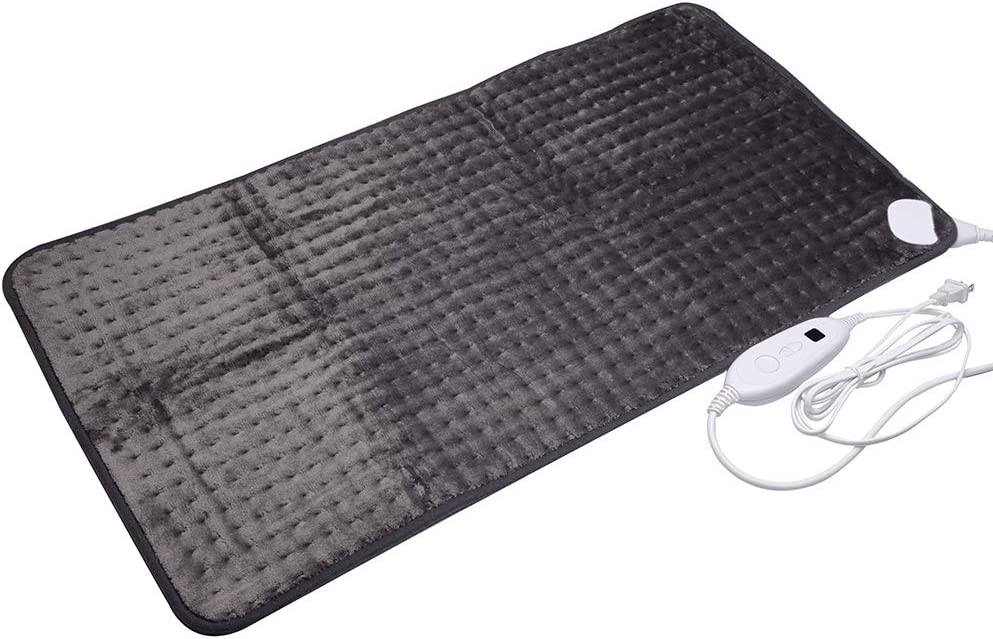 Ambershine XXXXL King Size Heating Pad with Fast-Heating Technology&6 Temperature Settings, Microplush Fibers Pain Relief for Back/Neck/Shoulders/Abdomen/Legs 45cmx85cm (Dark Gray): Health & Personal Care