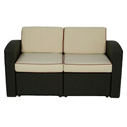 Amazon.com: Loveseat reclinable de patio al aire última ...