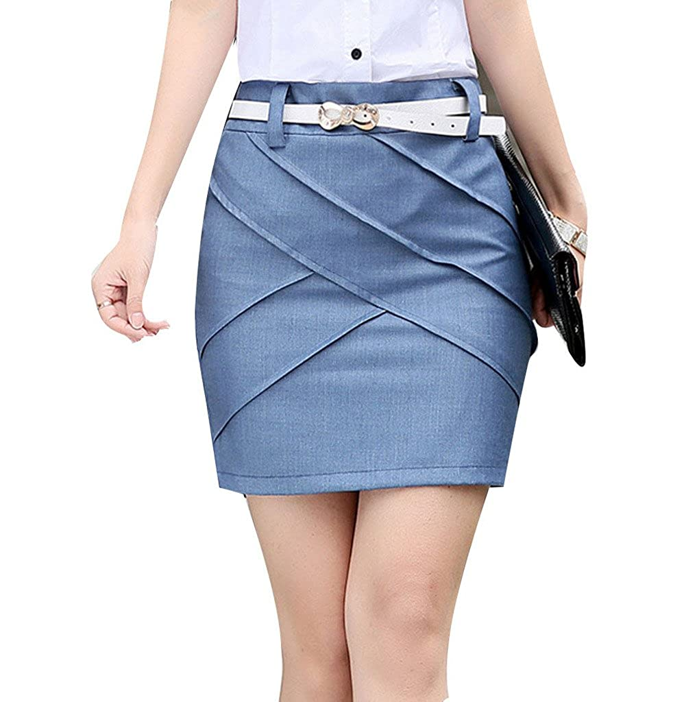 84df7a111a22 YGT Women's Cotton Mini Skirt Office Wear Above Knee A Line Skirt at Amazon  Women's Clothing store: