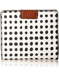 Emma Rfid Mini Wallet White With Black Wallet