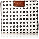 Fossil Emma Rfid Mini Wallet White With Black Wallet фото