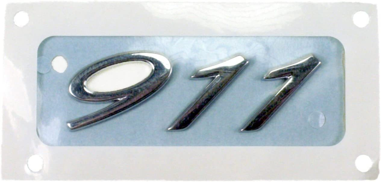 Chrome with Adhesive Backing Genuine Porsche 911 Emblem 991 559 231 02