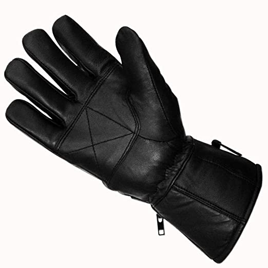 Cowhide Leather Motorcycle Bike Racing Riding Gloves Stretch Knuckles Insulated