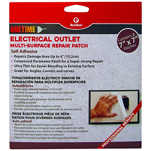 - Red Devil 1227 Onetime Multi Surface Repair Patch - 2 Pack of 7 inch x 7 inch patches