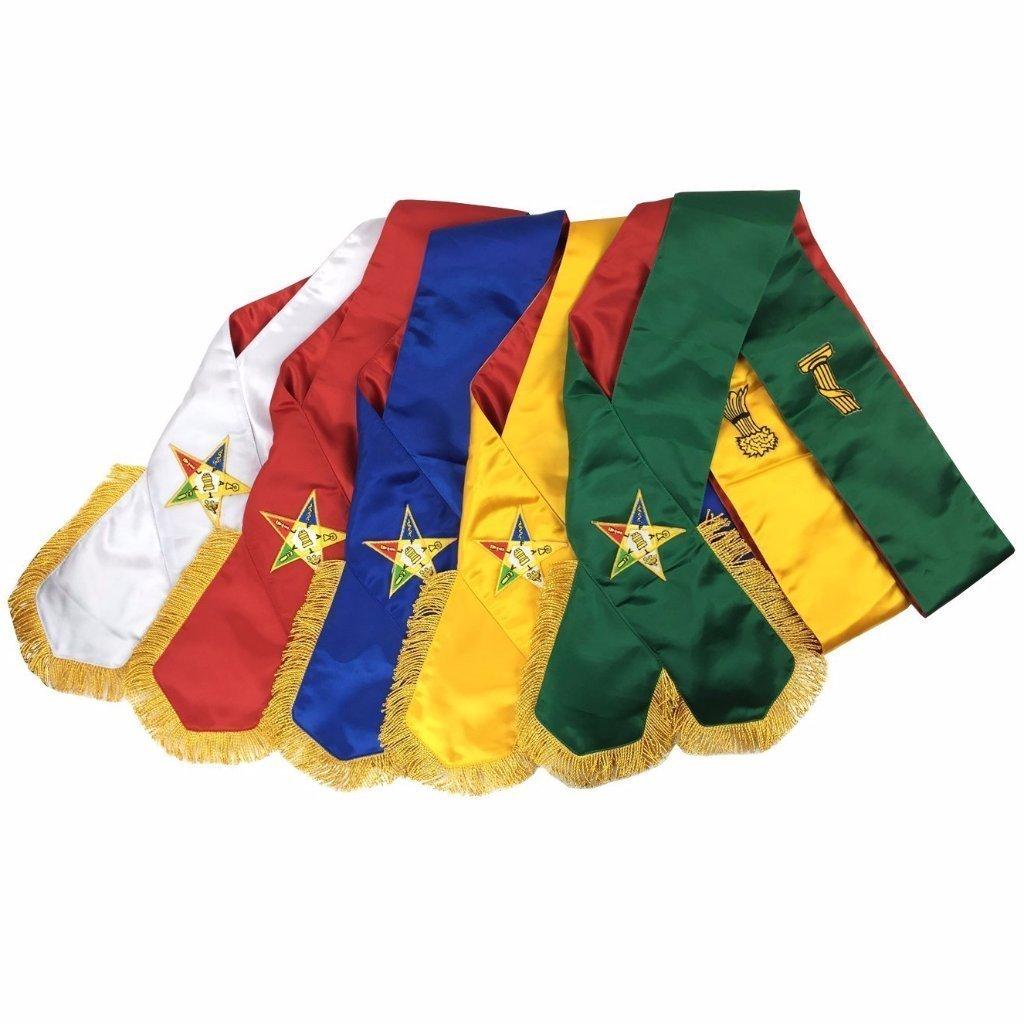 Bricks Masons Masonic Order of Eastern Star OES コンプリートサッシュセット サッシ5個セット   B07JB4LBHJ