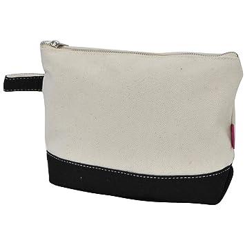 9ea7a356eb4d Jute/Canvas NGIL Large Cosmetic Bag Pouch BLACK