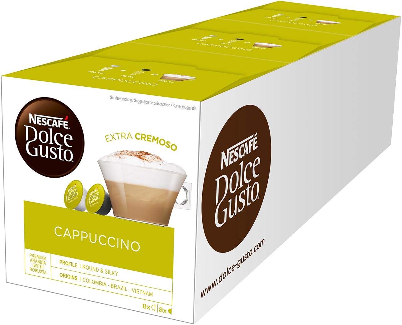 Nescafé Dolce Gusto, Cápsulas de café (Cappuccino) - 3 de 16 ...