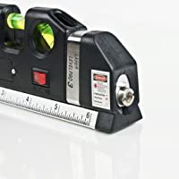 Nivel A Laser Trena 2.5m Nivelador Painel Prateleira Parede