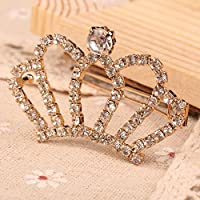 Pretty Crystal Rhinestones Princess Crown Hair Clip Hair Pins Headband Hair Band