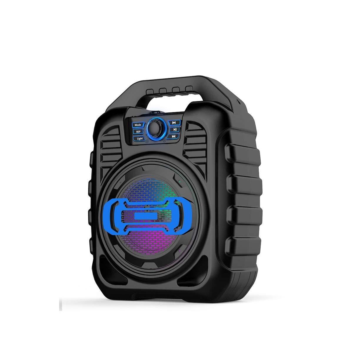 Guyuexuan ワイヤレスBluetoothスピーカー、ハイパワー太りすぎのサブウーファー、家庭用屋外スピーカー、ポータブルポータブルミニスピーカー、車の3 dサラウンドスピーカー 製品 4 (Color : Black) B07T4YVRQ5