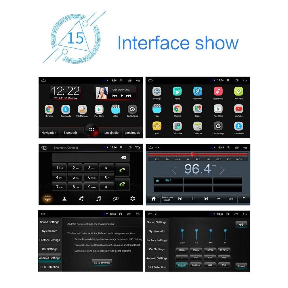 Gaeruite Car Radio 7 Inch Reproductor MP5 para Coche Pantalla t/áctil Car Radio 1 DIN Car Stereos Bluetooth Android 8.1 Navegaci/ón Mapa y c/ámara incorporados