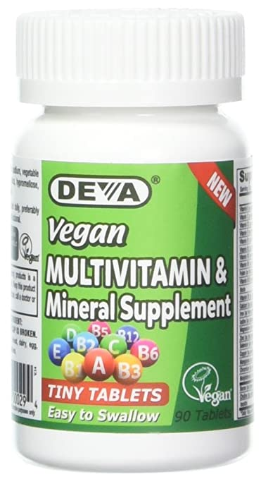 Deva multivitamin and mineral supplement tiny tablets