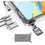 USB C Hub for iPad Pro 2020 2018, 6 in 1 USB C Adapter with 4K HDMI,USB 3.0, SD/TF Card Reader, 3.5mm Headphone Jack, 100W PD