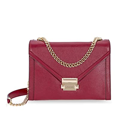Image Unavailable. Image not available for. Color  Michael Kors Whitney  Large Shoulder Bag- Maroon 1ba4f0e223741