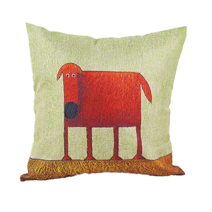 Molde cuadrado para Topmo Cotton Linen funda decorativa para cojín con diseño de 18 fundas de almohada para cama