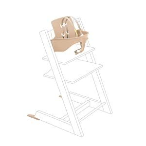 Tripp Trapp Baby Set, Natural - Convert Tripp Trapp Chair Into High Chair for Toddlers - Removable Seat + Harness for 6-36 Months - Compatible with Tripp Trapp Models After May 2006