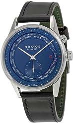 Nomos Zurich Weltzeit Nachtblau Blue Dial Mens Watch 807