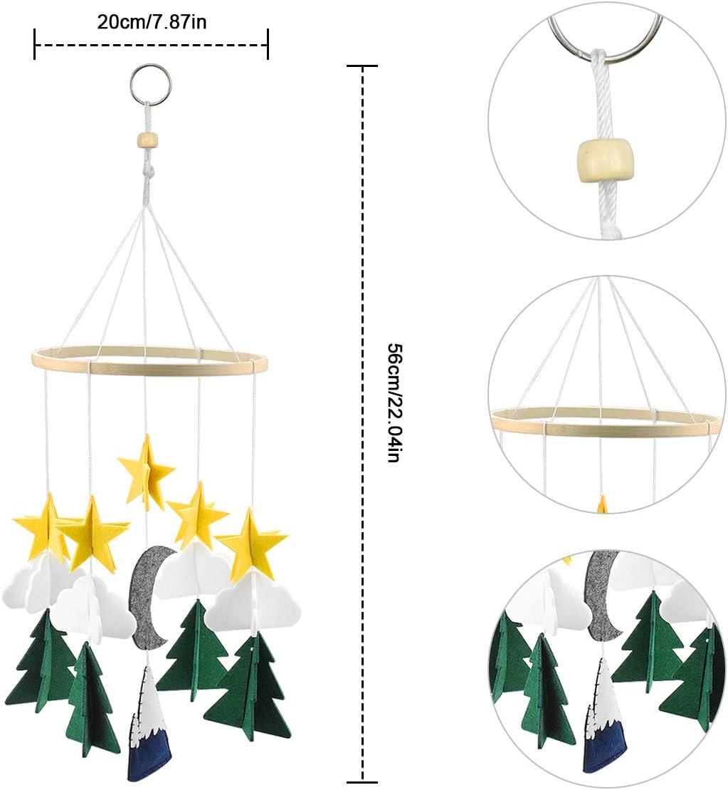 Ornement /à Suspendre pour Filles Gar/& Kissral Mobile de lit b/éb/é avac Boule en Feutre D/écoration /à Suspendre pour Chambre denfant Hochet Mobile pour B/éb/é Carillons /éoliens pour B/éb/é