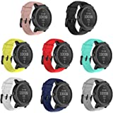 TECKMICO 8PCS Ticwatch E Bands,20mm Silicone Smart Watch Replacement Bands for Ticwatch E/Ticwatch 2/Vivoactive 3 Watch with Quick Release