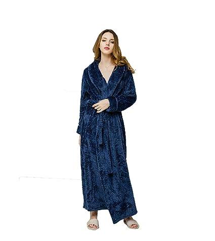 XZ Albornoz Baño Mujeres Hombres Batas Y Kimonos Ropa Unisex Lounge Suave Absorbente Y Cómodo Franela