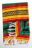 Del Mex (TM) Rasta Mexican Yoga Beach Blanket Vintage Style