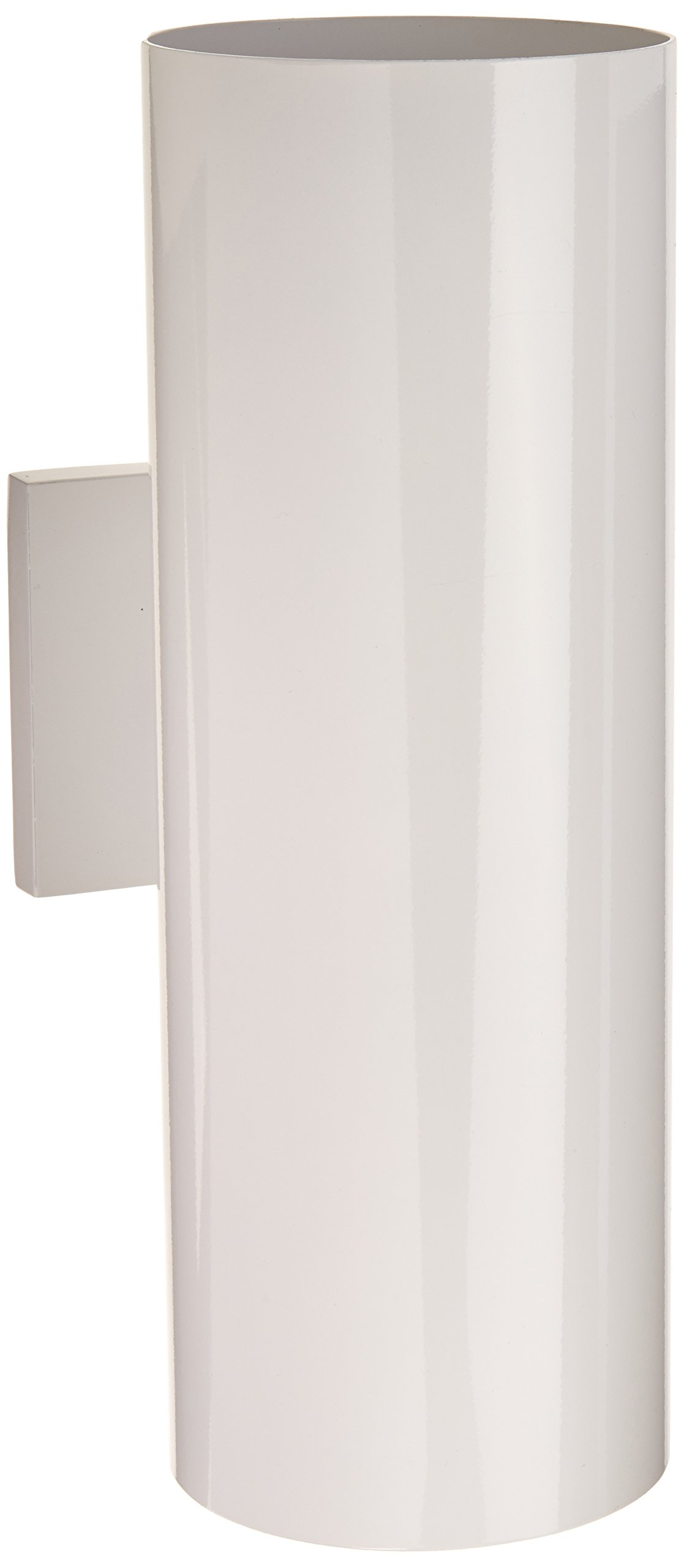 Progress Lighting P5675-30 5-Inch Up/Down Cylinder with Heavy Duty Aluminum Construction and Die Cast Wall Bracket Powder Coated Finish UL Listed For Wet Locations, White
