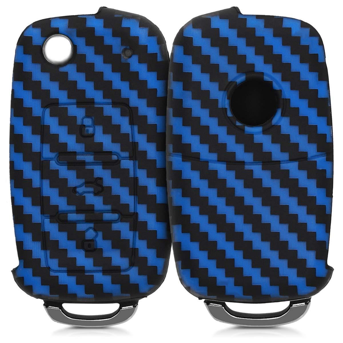 .Diagonal Zigzags blue / black
