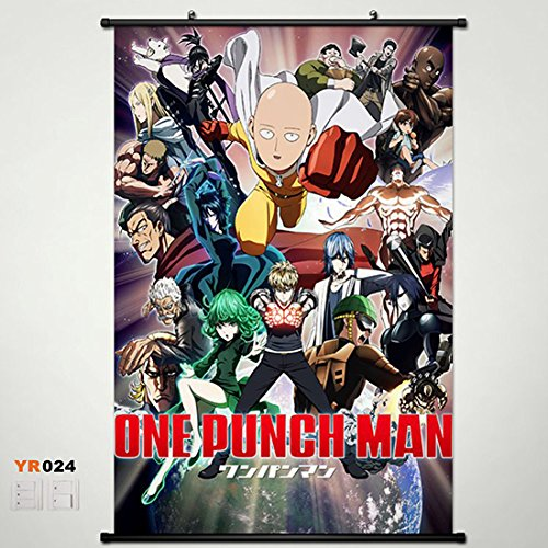 Home Decor Anime One Punch Man Saitama Genos Wall Scroll Pos