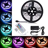 color schemes for bedrooms Boomile BL600 16.4ft LED Strip Lights, SMD 5050 300LEDs Waterproof RGB Light Strips Color Changing Flexible LED Light Strip Kit DC 12V Power Adapter + 44Key IR Remote Controller for Kitchen Bedroom