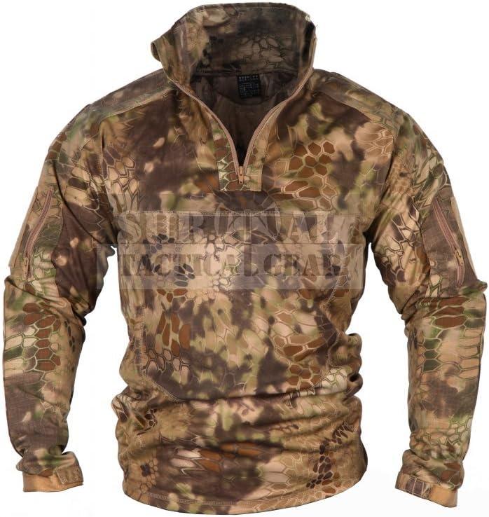 Hombres Militar Airsoft combate BDU camiseta US ejército Gen3 táctica camisa con coderas rodilleras, Large, Kryptek Nomad: Amazon.es: Deportes y aire libre