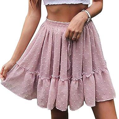 027e07ec9 Cardigo Women High Waist A Line Mini Skirt Pleated Ruffle Cute Beach Short  Skirt at Amazon Women's Clothing store: