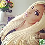 Brazilian virgin hair Straight Full Lace Human Hair Wigs Full Lace Wigs Blonde Wig 613# 14""