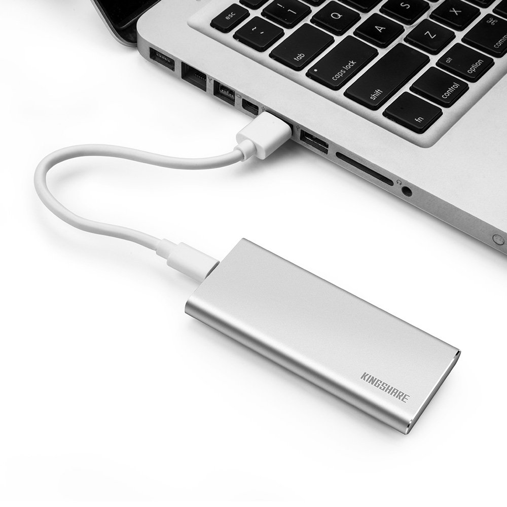 KINGSHARE S8 SSD 480GB USB3.0 Type C External Solid State Drive Portable SSD with UASP Support-Silver (480GB) by KINGSHARE (Image #7)