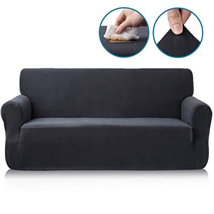 Pleasant Homesure 1 Piece High Strech Loveseat Sofa Slipcover For 2 Cushion Couch Nanotex Waterproof Sofa Cover With Elastic Bottom For Dogs And Pets Jacquard Short Links Chair Design For Home Short Linksinfo