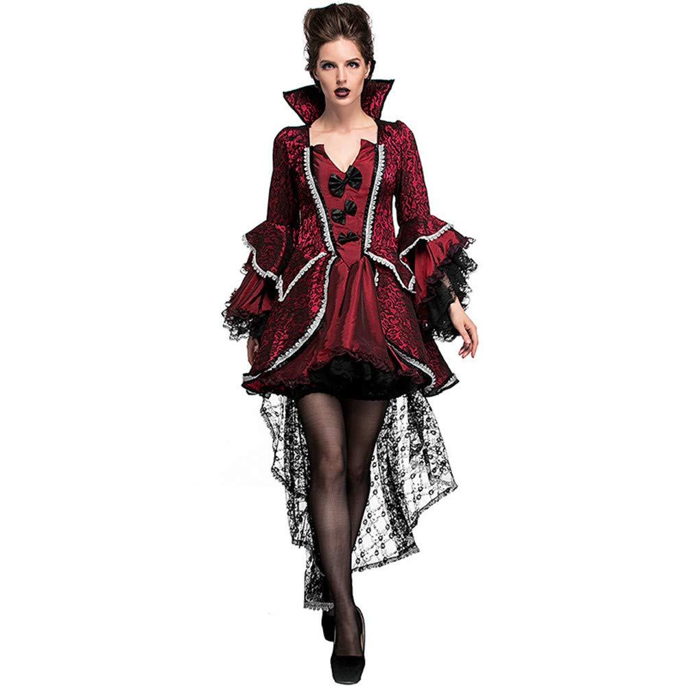 Barato KTYX Disfraz De Actuación De La Etapa De Vestuario De La Corte Aristocrática De La Condesa De Vampiro Carnaval De Halloween Vestidos de Halloween (Tamaño : XXL)