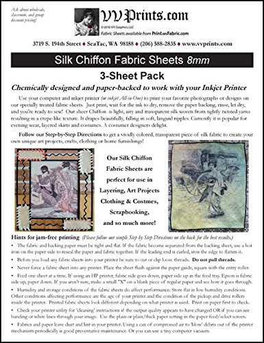 photo about Printable Silk Fabric named Inkjet Printable Silk Chiffon Material Sheets 3-sheet Pack