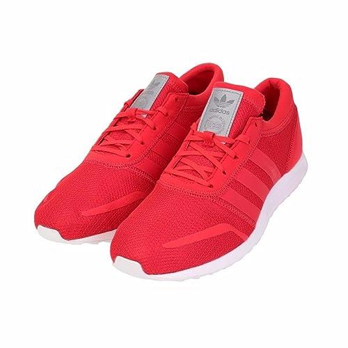 adidas Los Angeles - Zapatillas de Material Sintético para Hombre Rojo (Rayred/Rayred/Ftwwht), Color Rojo, Talla 40 EU: Amazon.es: Zapatos y complementos