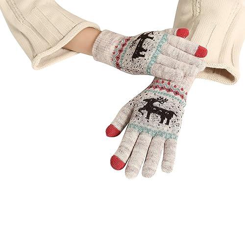 (5 colori)iShine guanti donna inverno guanti bici maglieria guanti moto donna