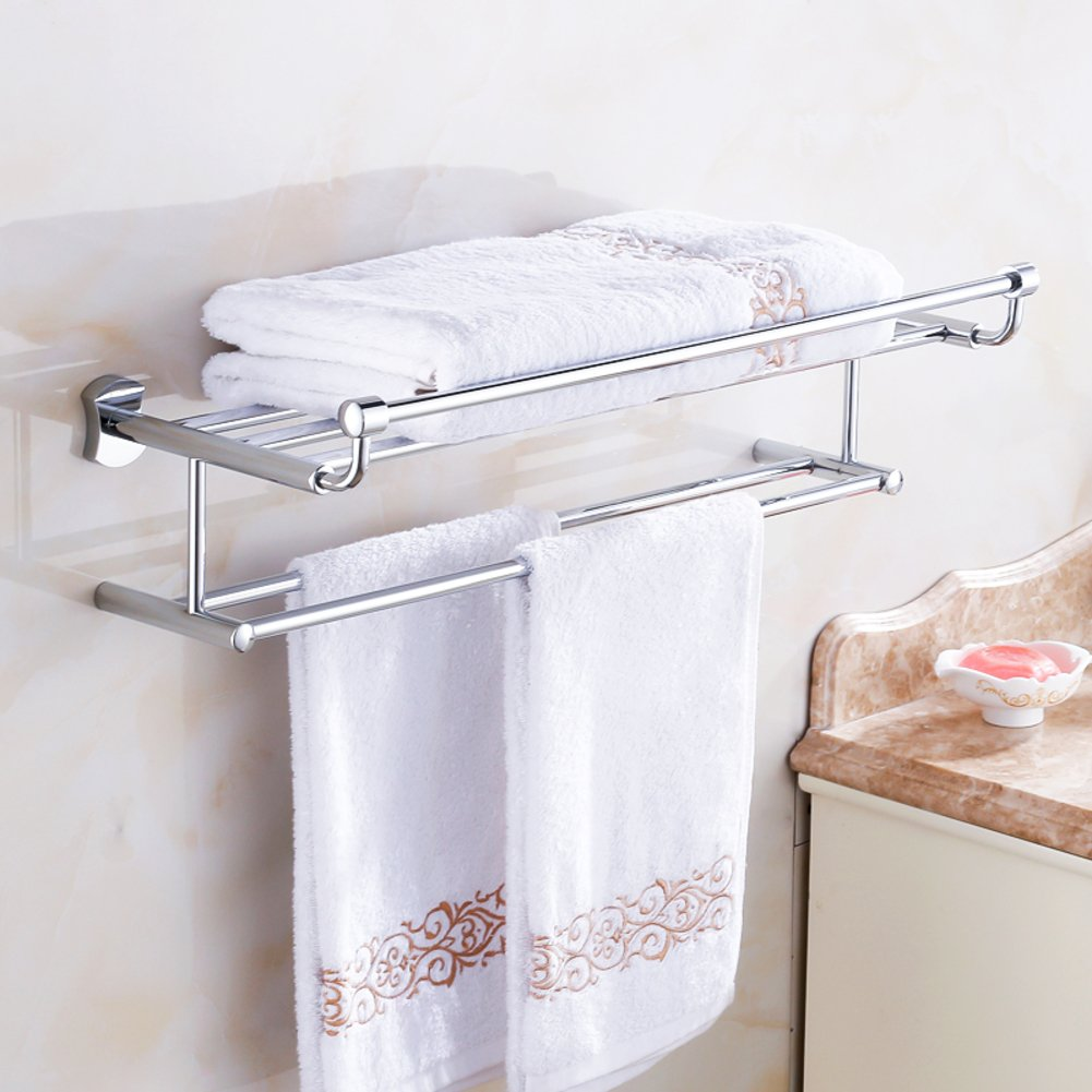 60 Off Towel Shelf Brass Towel Rack Bathroom Hardware Bathroom Racks Bathroom Towel Rack A