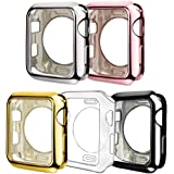 ISENXI Compatible with Apple Watch Case 42mm, 5 Pack Soft TPU Ultra-Slim Lightweight Bumper Scratch Resistant Protective Cove