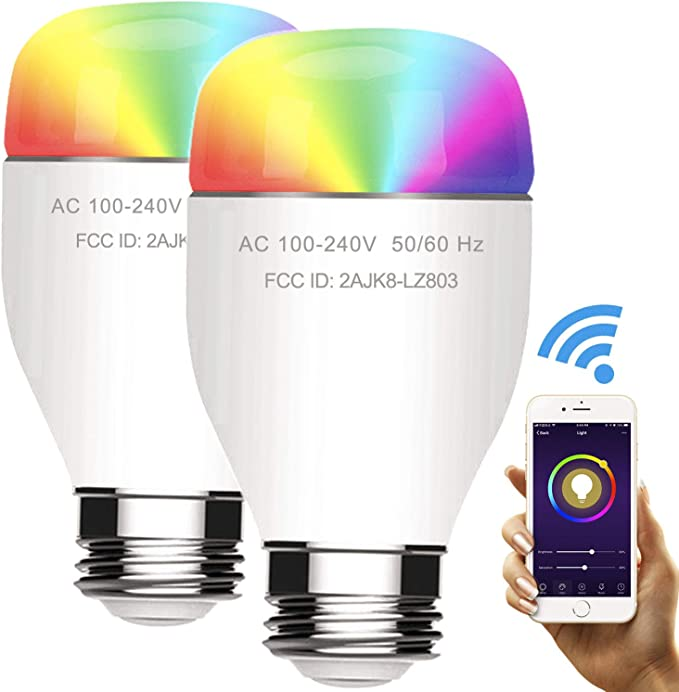 Smart Light Bulb Compatible with Alexa E27//B22 110V//220V 15W Cold/&Warm Dimmable Bulb Smart Life Compatible Bulb WiFi LED Bulb