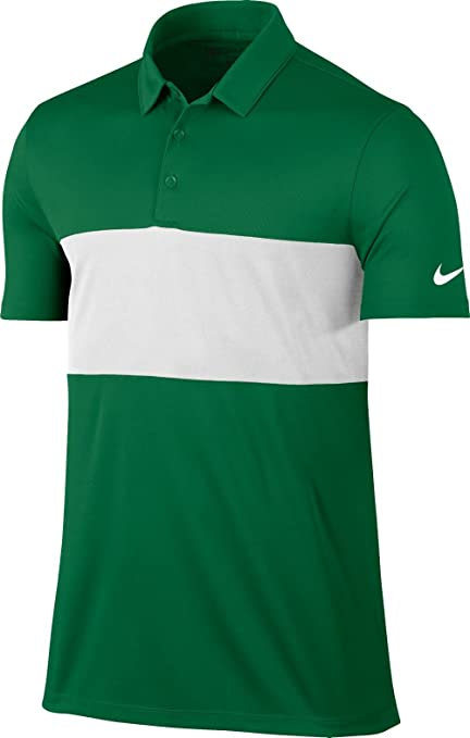 49b4fefa9 Image Unavailable. Image not available for. Color: Nike Men's Breathe Color  Block Golf Polo (Pine Green/White, Large)