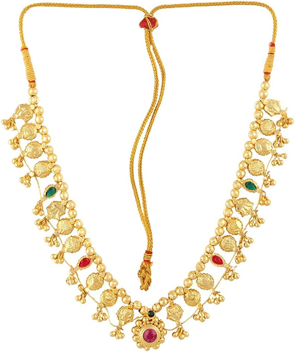 Ethnic and Antique 24K Gold Plated Necklace and Earrings Set Womens Trendz Traditional