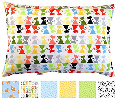 toddler-pillow-13x18-in-white-prints-no-pillowcase-needed-hypoallergenic-machine-washable-double-sti
