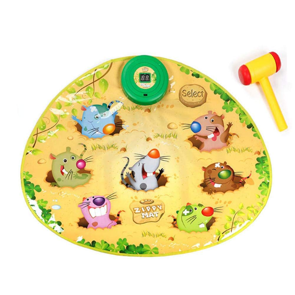 Heitaisi Whac A Mole Game,Dance Mat Puzzle Music Pad
