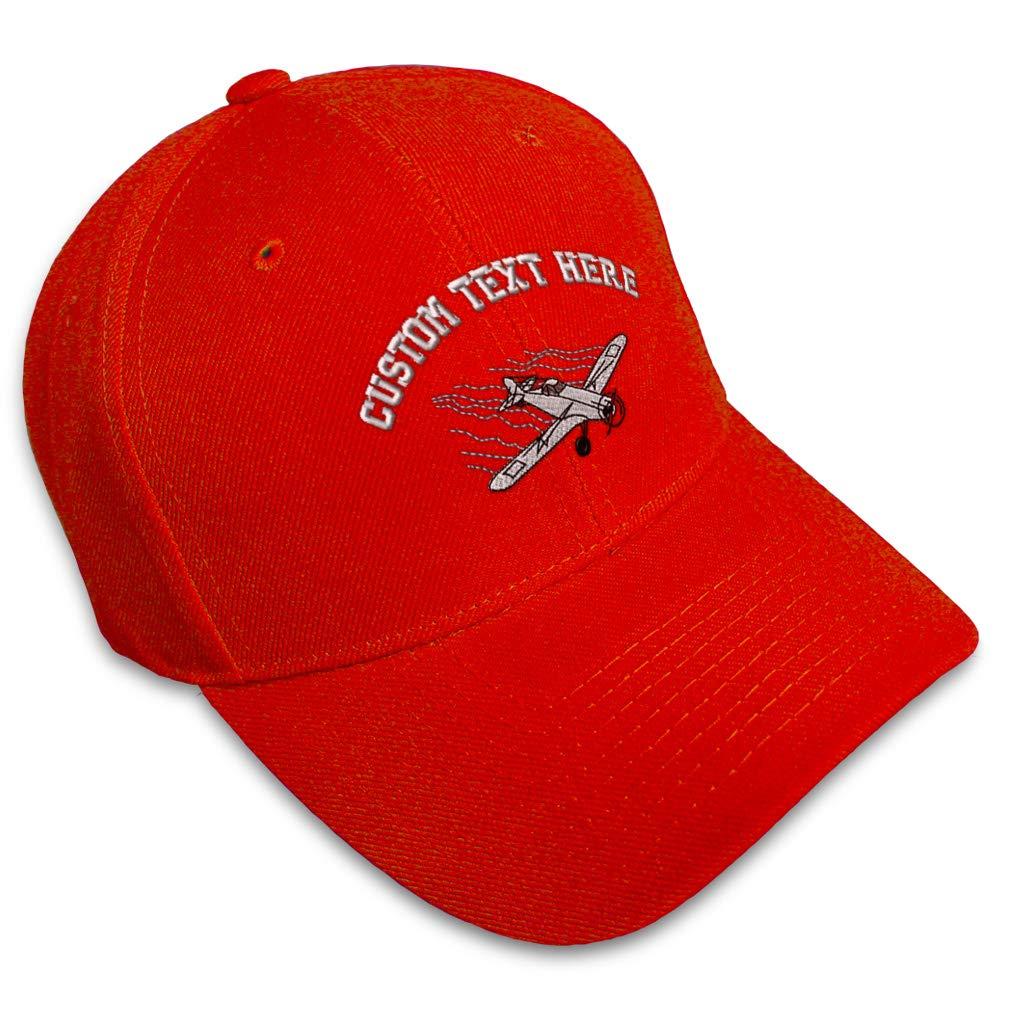 Custom Baseball Cap Plane Crop Duster Embroidery Dad Hats for Men /& Women