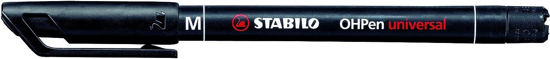 STABILO OHPen universal Medio permanente colore Nero - Confezione da 10 843/46 STA-84346N-10